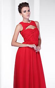 Sheath/Column V-neck Floor-length Chiffon Evening Dress inspired by Odette Yustman at Oscar