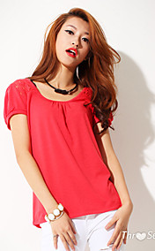 Puff Sleeve Lace Sleeve T-shirt