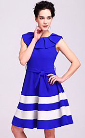 TS Crimp Collar Striped Dress (More Colors)