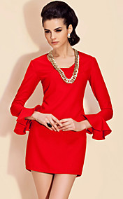 TS Flair Sleeve Special Neckline Sheath Dress (More Colors)