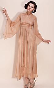 TS Chiffon Deep V Maxi Dress