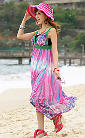 V-neck Sheath Chiffon Maxi Dress (More Colors)