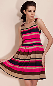 TS Irregular Stripe Swing Dress