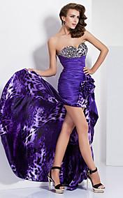 A-line Sweetheart Asymmetrical Taffeta And Charmeuse Evening/Prom Dress