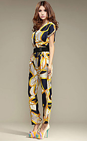 Genteel Silk Fashion Jumpsuit Pants