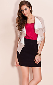 TS Contrast Color Lapel Jacket