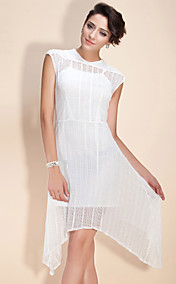 TS Irregular Hemmed Lace Dress