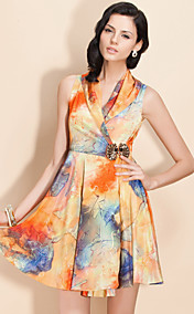 TS Abstract Print Dress