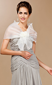 Tulle Party / Evening Shawls With Flower