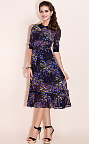 TS Flower Print Midi Dress