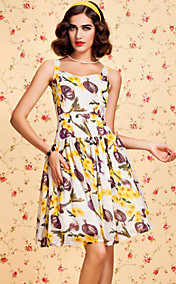 TS VINTAGE Fruit Print Swing Dress