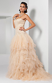 Ball Gown Sweetheart Sweep/ Brush Train Tulle Evening Dress inspired by Kristen Wiig at Oscar