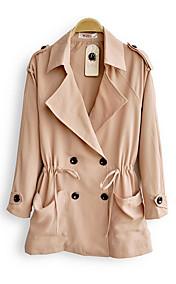 Fashion Double Breasted Windbreaker