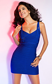 Sheath/Column Sweetheart Sleeveless Short/Mini Bandage Dress