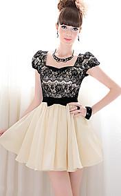 Women's Lace Splicing Dress
