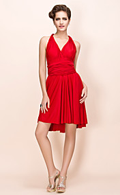 Sheath/Column Knee-length Stretch Satin Convertible Dress (452960)