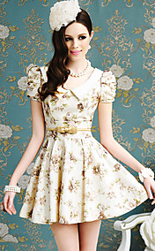 Women's Floral Print Swing Dress