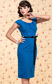 TS VINTAGE V Back Pleats Sheath Dress