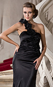 Trumpet/Mermaid One Shoulder Floor-length Stretch Satin Evening Dress