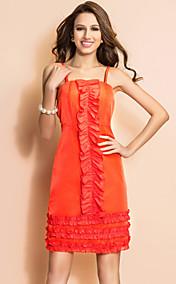 TS Sheer Ruffle Spaghetti Strap Dress