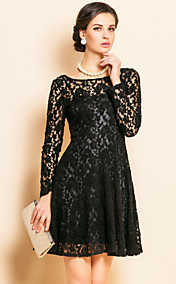 TS Lace Backless Velvet Dress