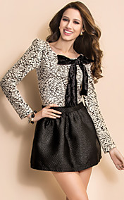 TS Velvet Lace Bow Blouse
