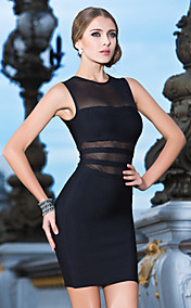 Sheath/Column Jewel Short/Mini Bandage Dress