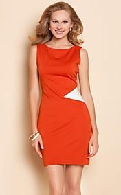 TS Simplicity Contrast Color Jersey Slim Dress