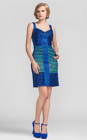 Sheath/Column Sweetheart Short/Mini  Stretch Satin Evening Dress