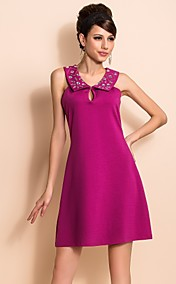 TS Simplicity Beads Slim Fit Sleeveless Swing Dress