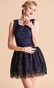 TS VINTAGE Bow Back Lace Sleeveless Princess Dress