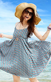 Women's Sleeveless Print Beach Dress
