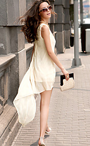 Women's Chiffon Asym Tank Dress