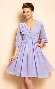 TS VINTAGE Backless Puff Sleeve Swing Dress