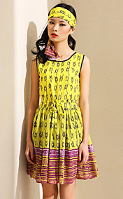 TS Print Sleeveless Skater Dress