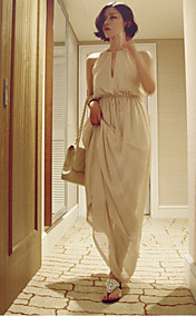Women's Chiffon Halter Maxi Dress