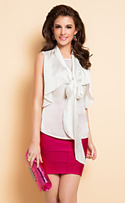 TS Bow Tie Front Sleeveless Blouse