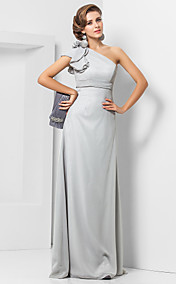 Sheath/Column One Shoulder Floor-length Chiffon Evening Dress