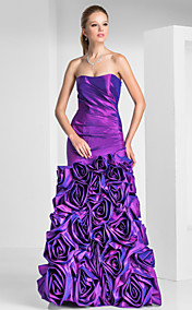 Trumpet/Mermaid Sweetheart Floor-length Taffeta Evening Dresses