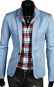 Men's Basic Causal Solid Color Suit