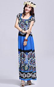 Women's Cotton Totem Print Maxi Dress