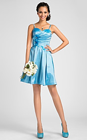 A-line Sweetheart Knee-length Taffeta Bridesmaid Dress