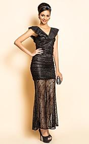 TS Lace Ruffle Slim Dress