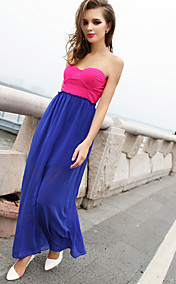 Women's Colorblock Maxi Bandeau Dress