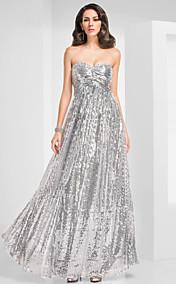 Sheath/Column Sweetheart Floor-length Sequined Evening Dress