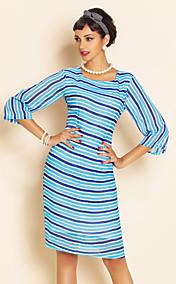 TS Stripes Chiffon Slim Dress