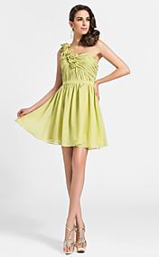 A-line One Shoulder Short/Mini Chiffon Cocktail Dress
