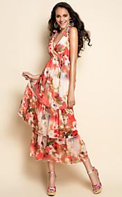 TS Sexy Print Midi Dress