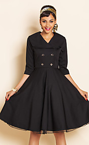 TS VINTAGE Wasp Waist Swing Dress