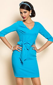 TS VINTAGE Half Sleeve Belt Dress